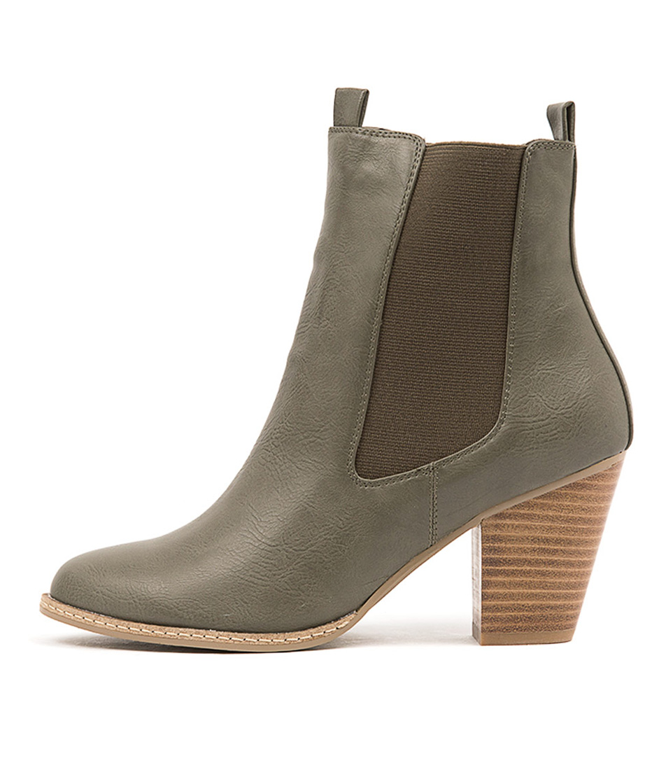 I Love Billy Cappy Olive Casual Ankle Boots