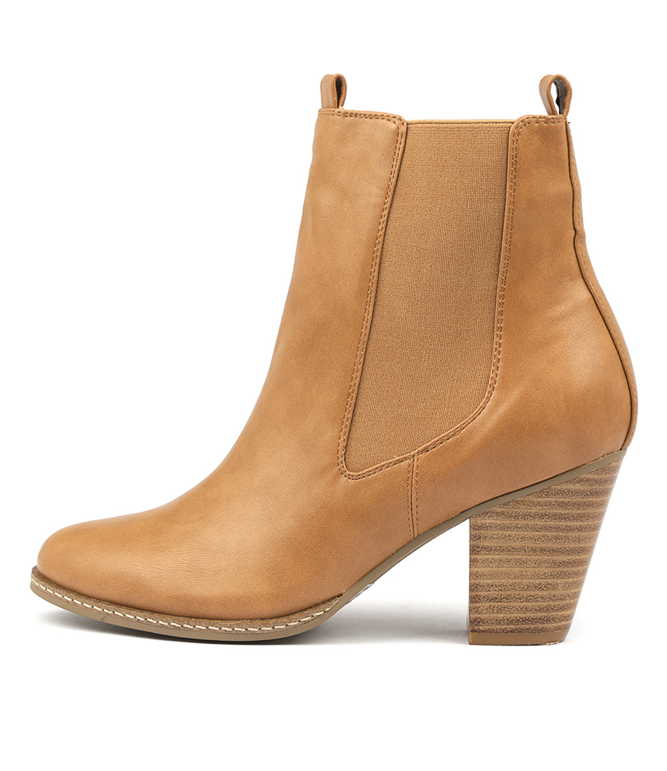 I Love Billy Cappy Tan Ankle Boots