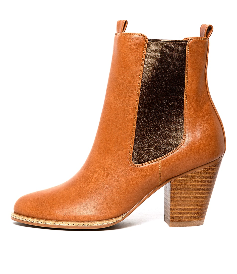 Buy I Love Billy Cappy Dk Tan Bronze Ankle Boots online with free shipping