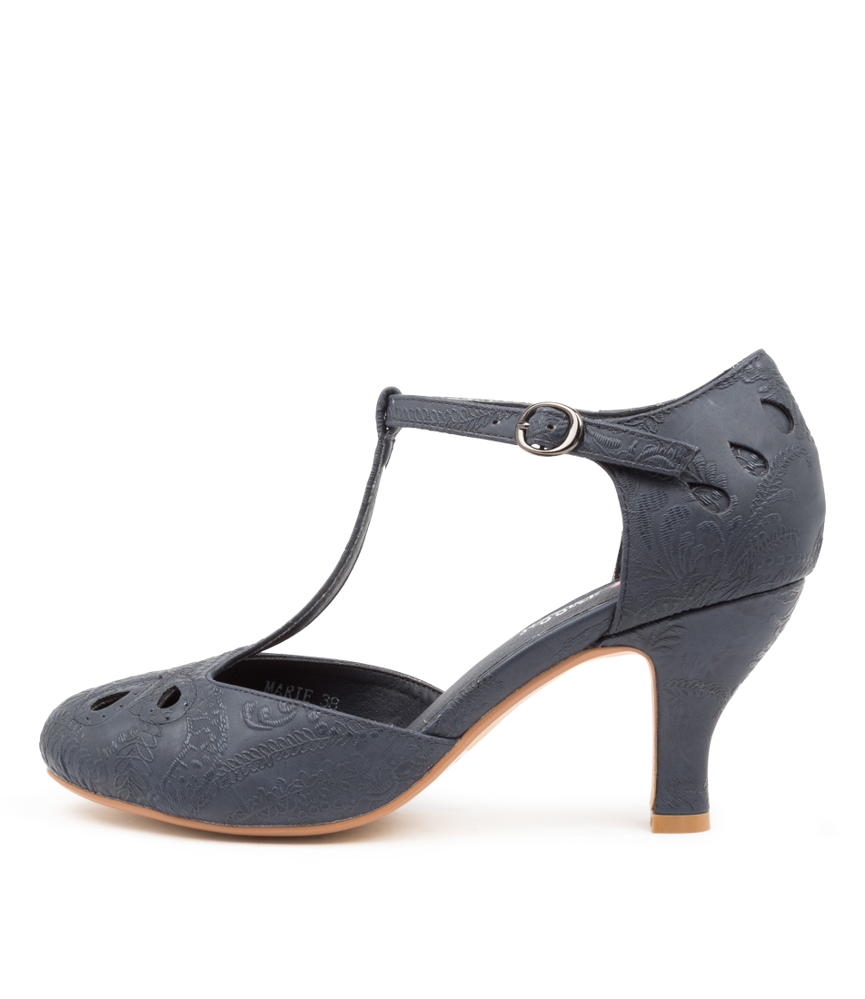 Buy I Love Billy Marie Navy Lace High Heels online with free shipping