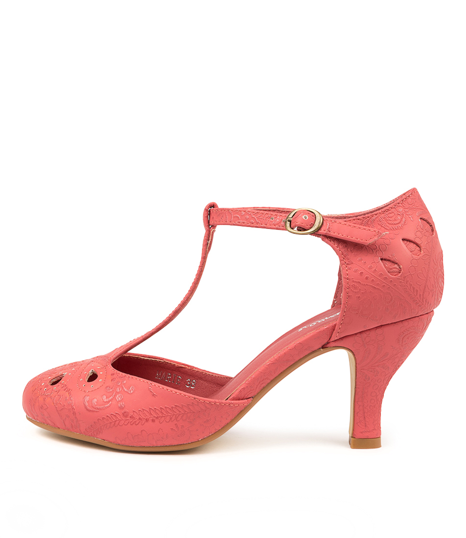 Buy I Love Billy Marie Red Lace High Heels online with free shipping