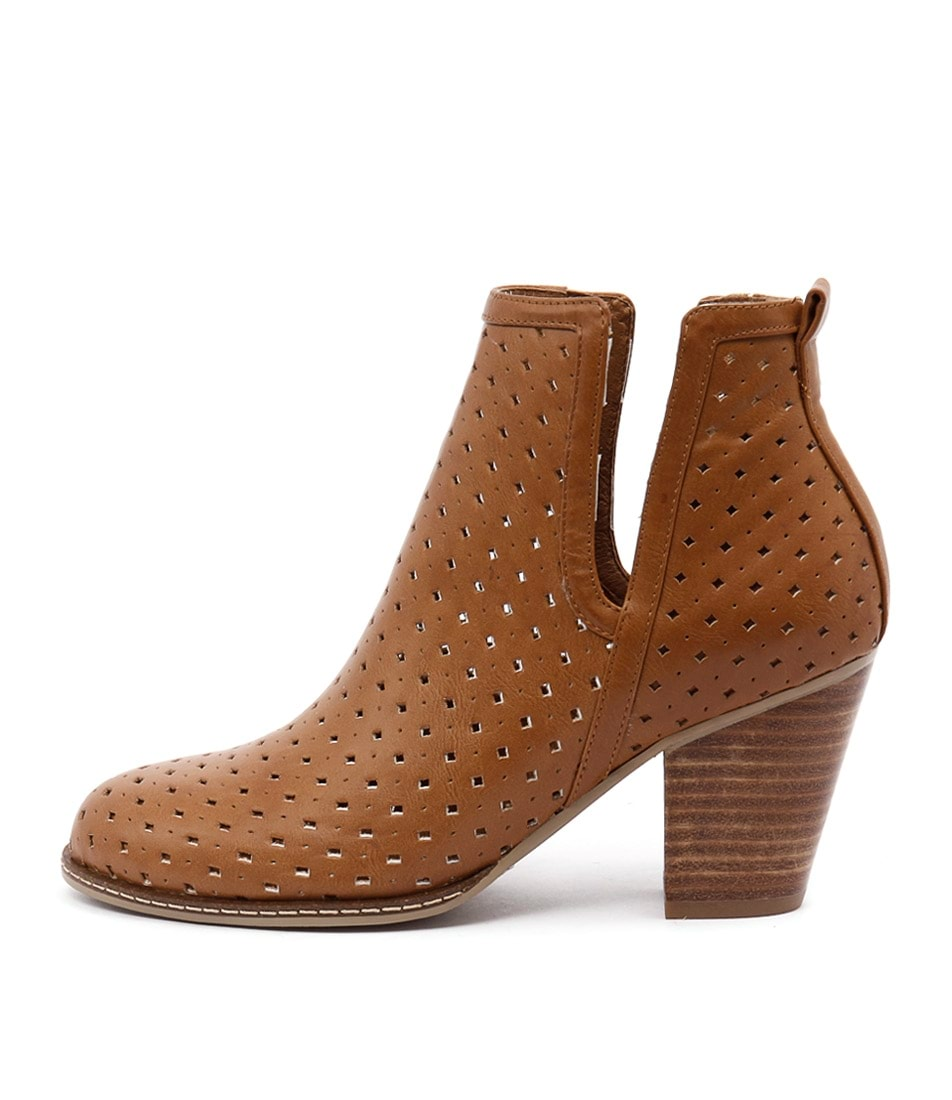 I Love Billy Caprice Tan Ankle Boots