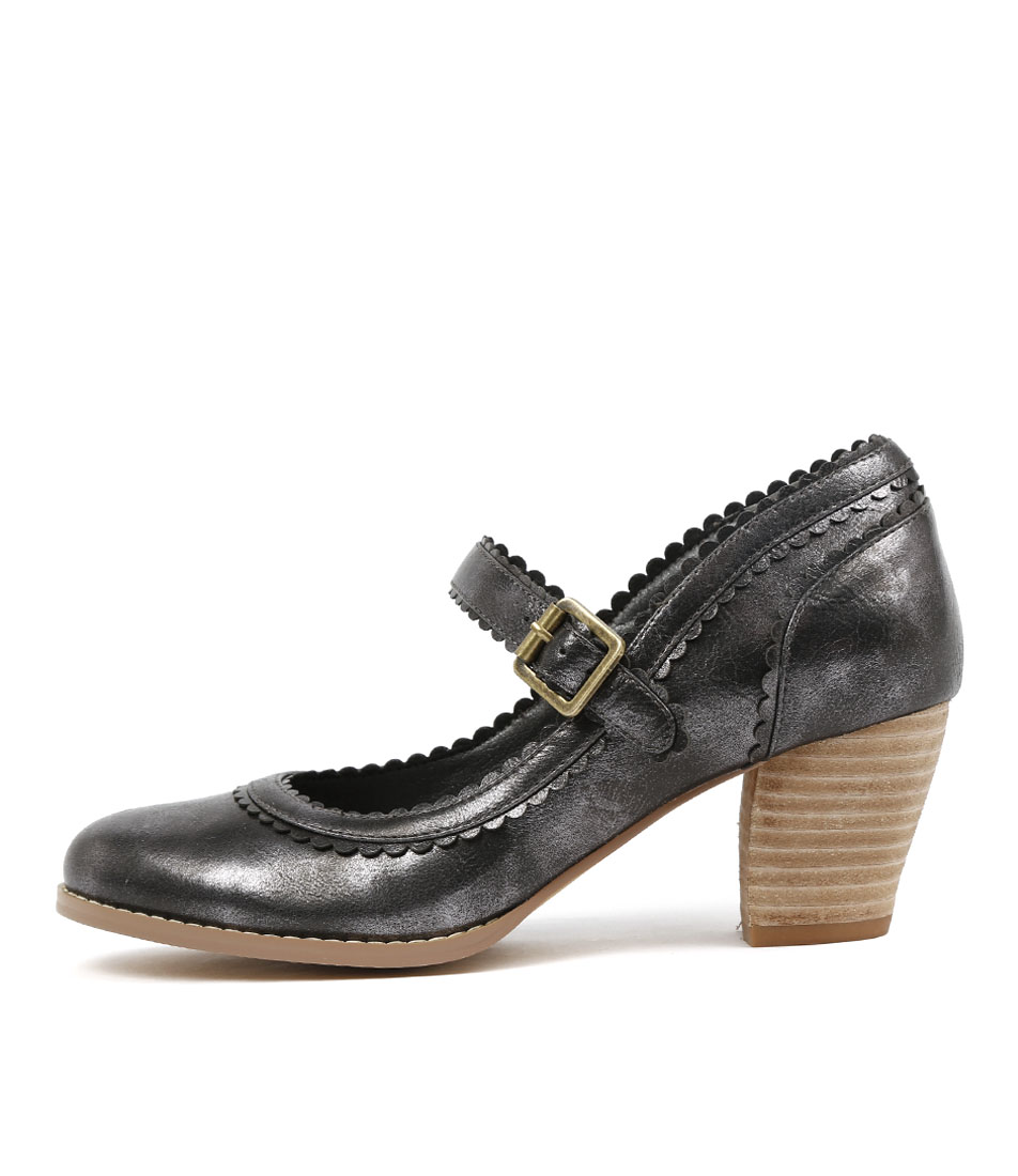 I Love Billy Denise Pewter Heeled Shoes