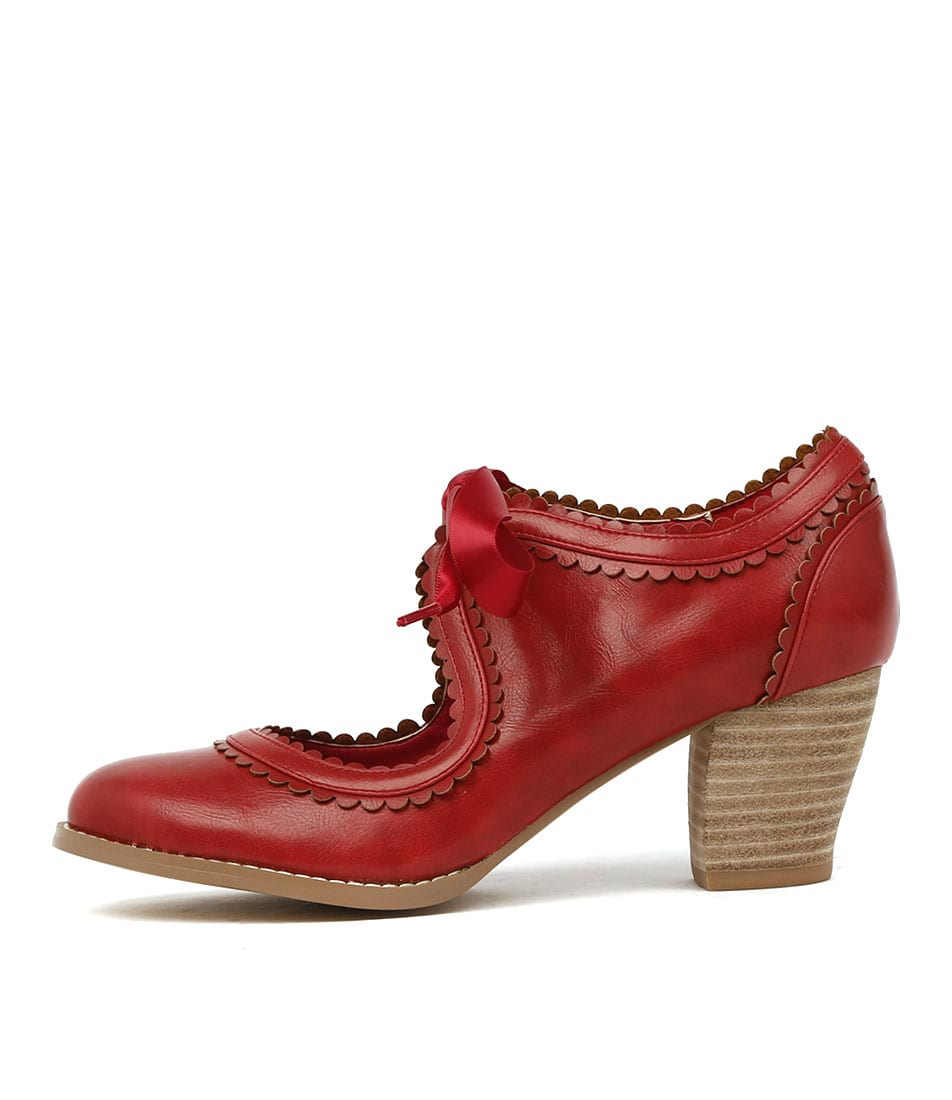 I Love Billy Diz Red Heeled Shoes