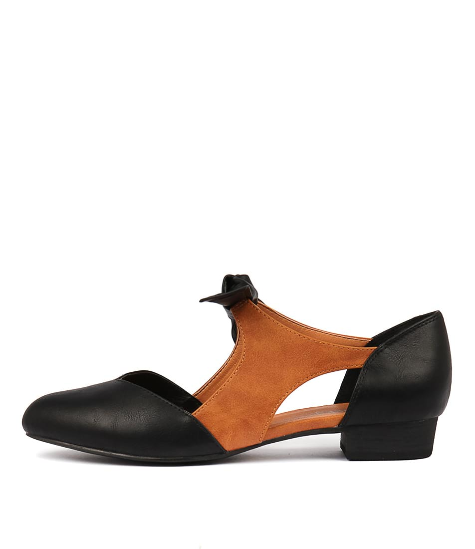 Buy I Love Billy Estella Black Tan Flats online with free shipping