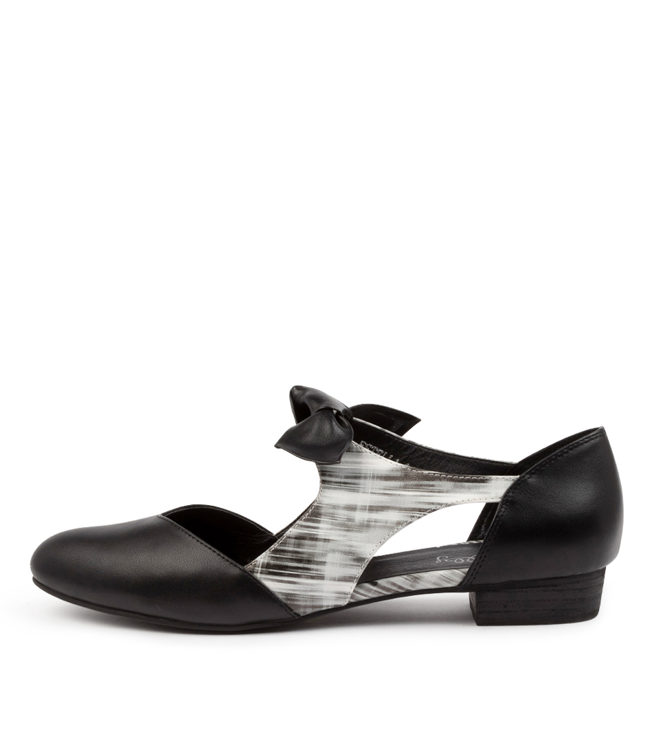 Buy I Love Billy Estella Black & White Flats online with free shipping