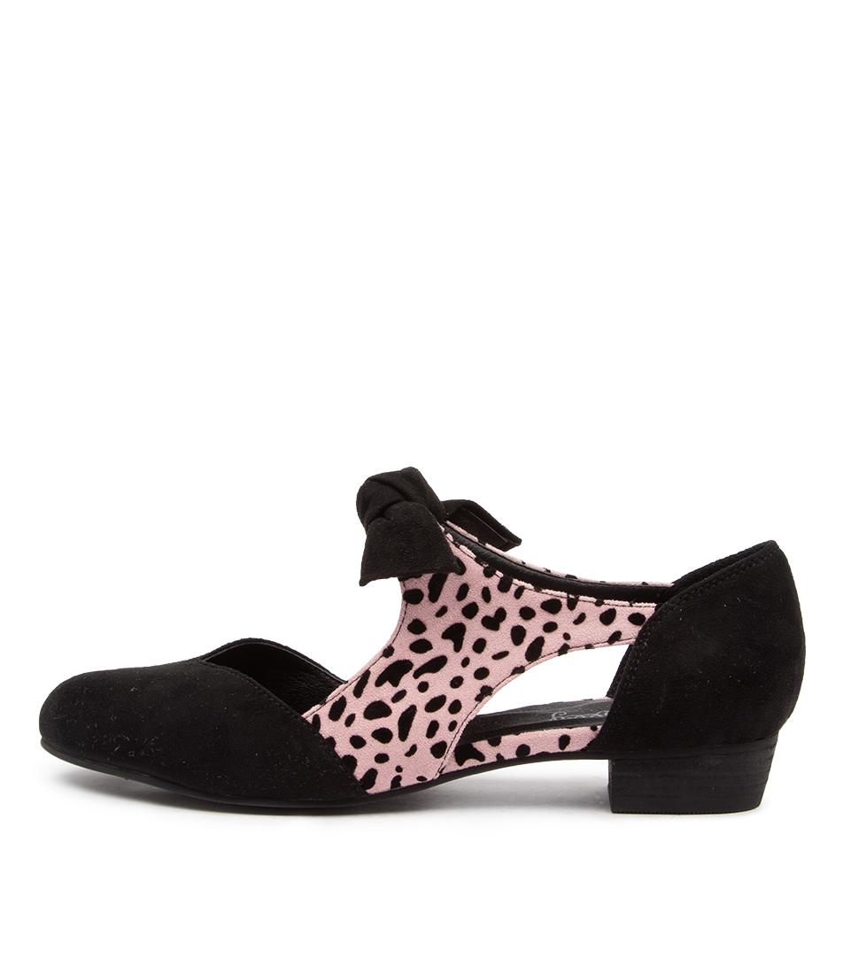 Buy I Love Billy Estella Black Blush Cheetah Flats online with free shipping