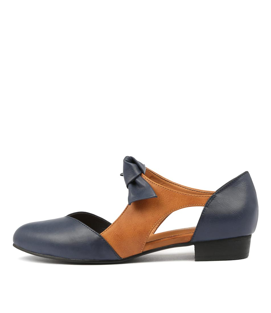 Buy I Love Billy Estella Navy Tan Flats online with free shipping