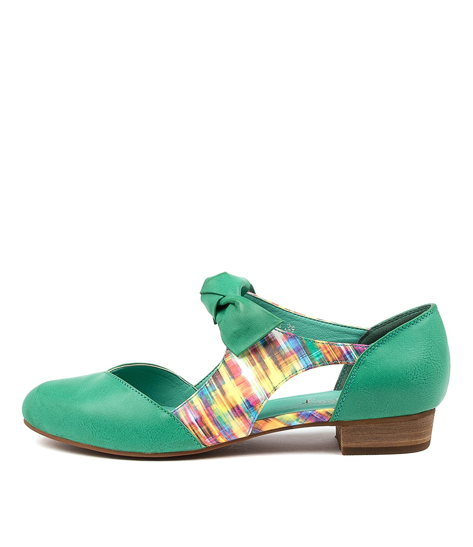 Buy I Love Billy Estella Jade Jade & Bright Flats online with free shipping