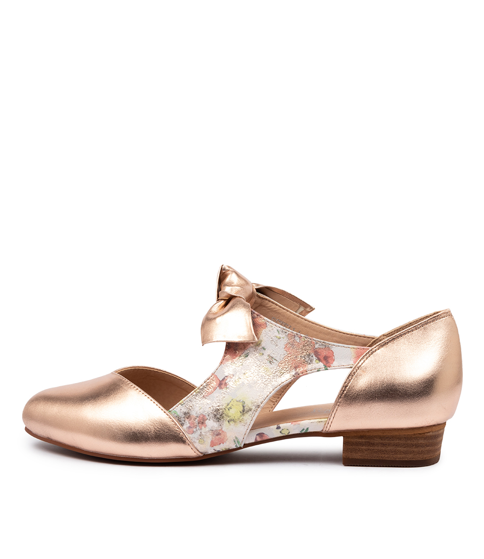 Buy I Love Billy Estella Rose Gold Mist Daisy Metallic Flats online with free shipping