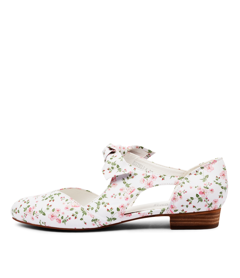 Buy I Love Billy Estella White Flowers Flats online with free shipping