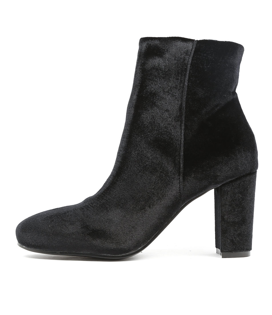 I Love Billy Miriam Black Casual Ankle Boots