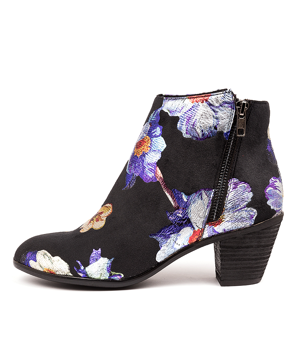 Buy I Love Billy Nolo Black & Purple Fo Ankle Boots online with free shipping
