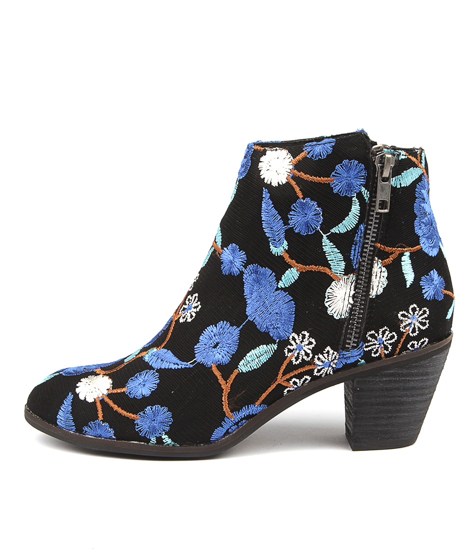 I Love Billy Nolo Black & Blue Flow Ankle Boots