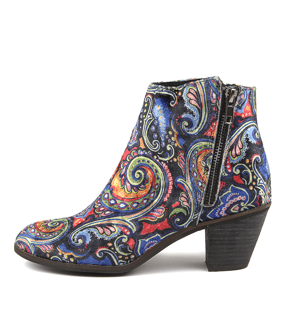 I Love Billy Nolo Blue Multi Pais Ankle Boots