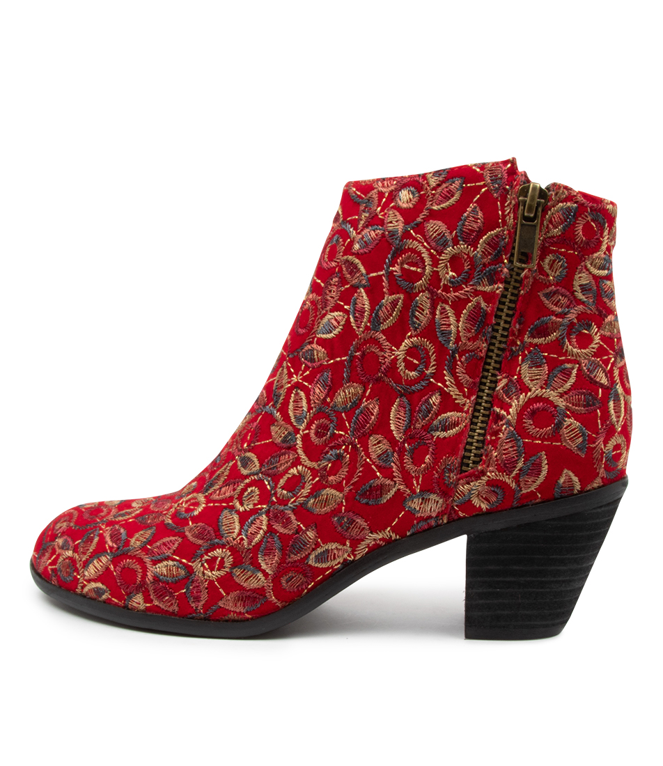 Buy I Love Billy Nolo Cherry Embroidery Ankle Boots online with free shipping