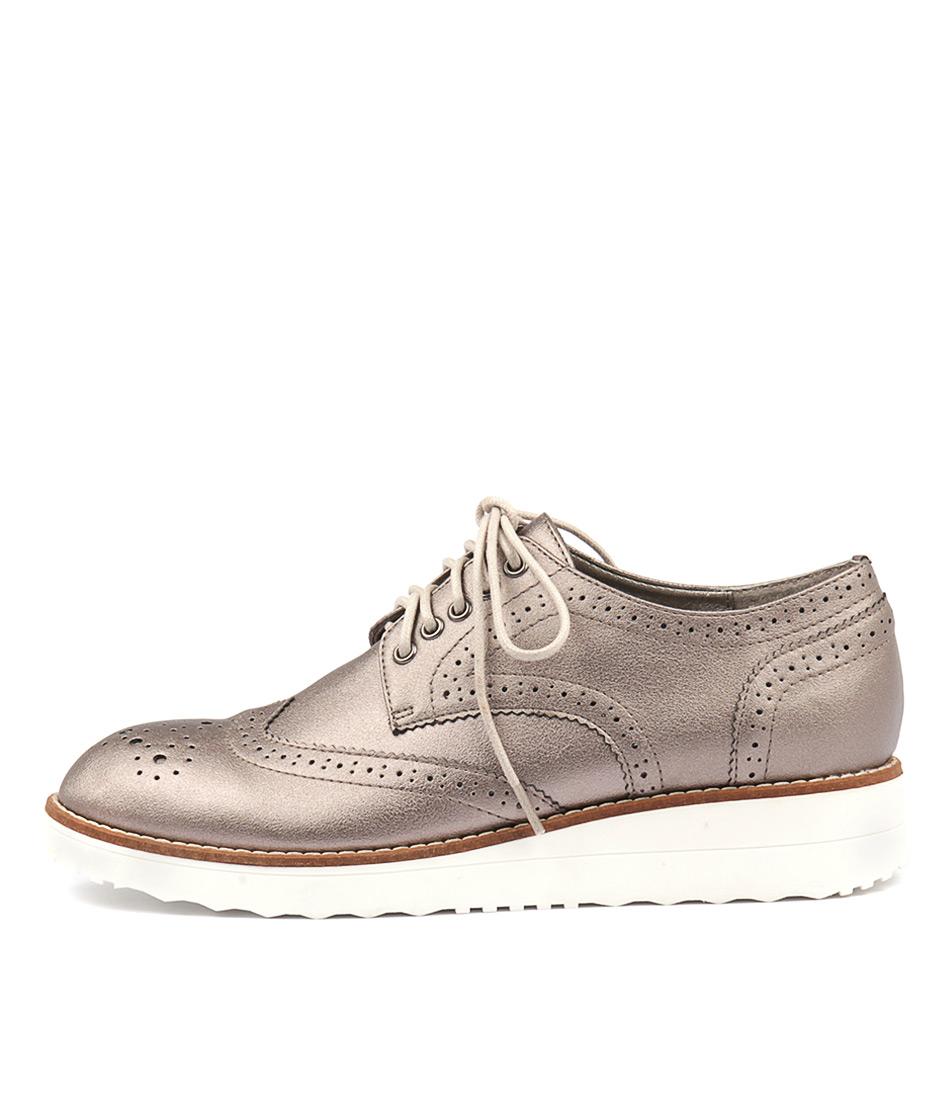 I Love Billy Oscal Pewter Heeled Shoes