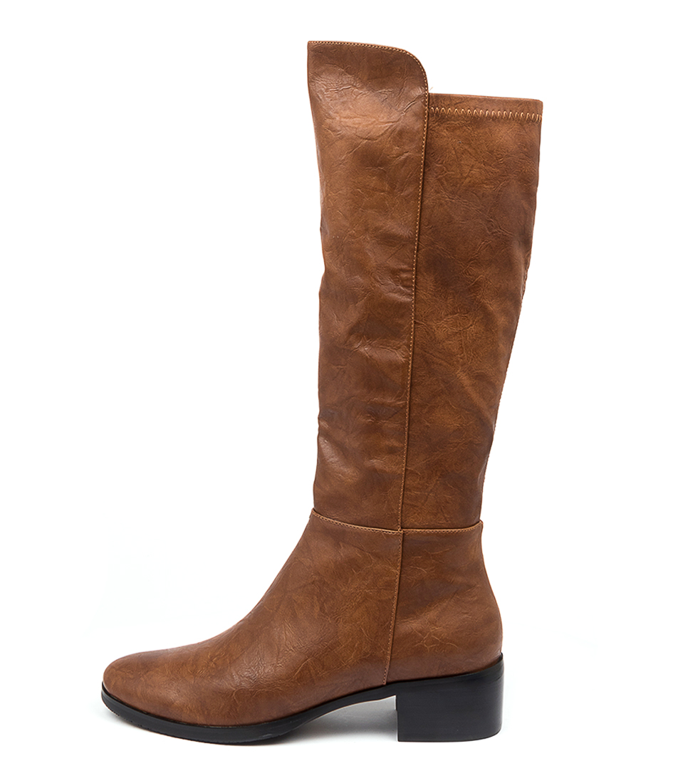 Buy I Love Billy Telli Tan Shrunken Tan Long Boots online with free shipping
