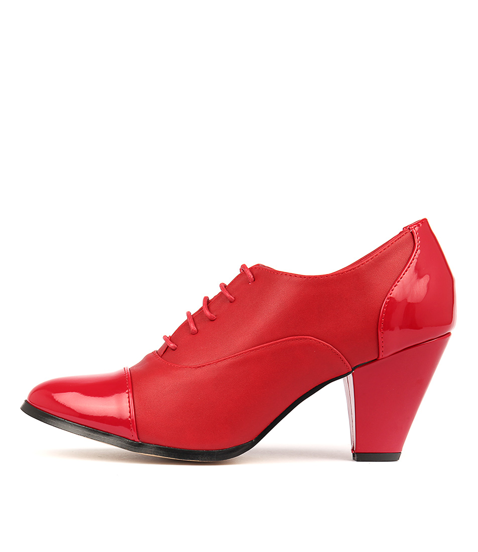 I Love Billy Curio Red Mix Shoes Womens Shoes Heeled Shoes