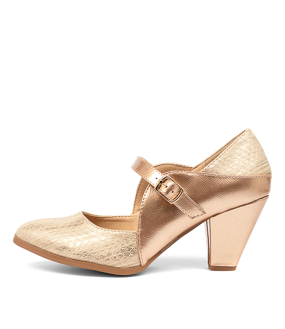 Buy I Love Billy Craving Rose Gold High Heels online with free shipping