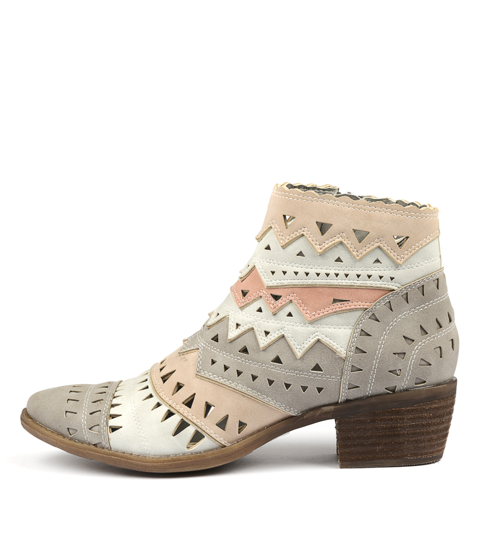 Photo of I Love Billy Sechi Grey Multi Ankle Boots womens shoes