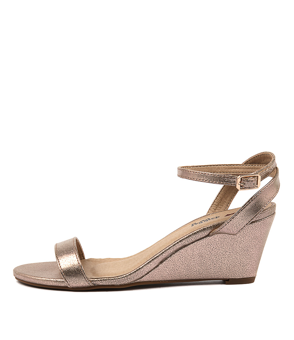Photo of I Love Billy Blaxen Rose Gold Heeled Sandals womens shoes