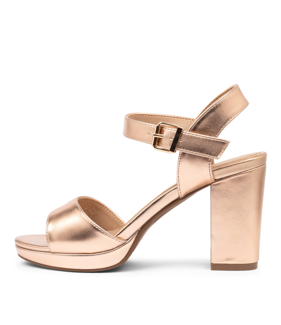 Buy I Love Billy Bountys Rose Gold Heeled Sandals online with free shipping