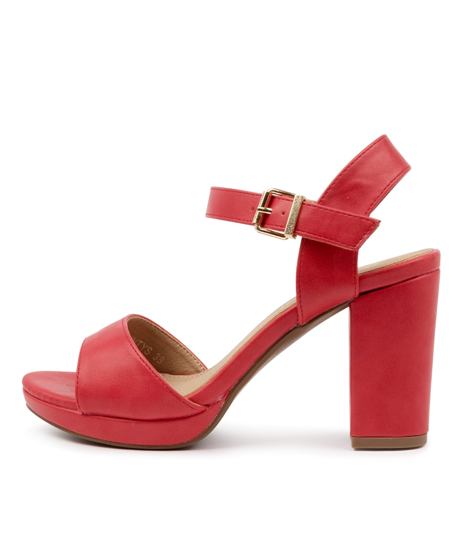 Buy I Love Billy Bountys Tomato Heeled Sandals online with free shipping