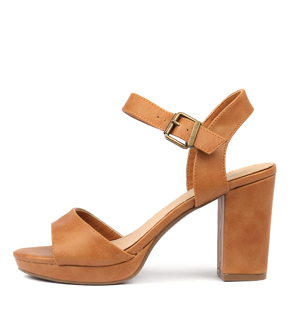 Buy I Love Billy Bountys Tan Heeled Sandals online with free shipping