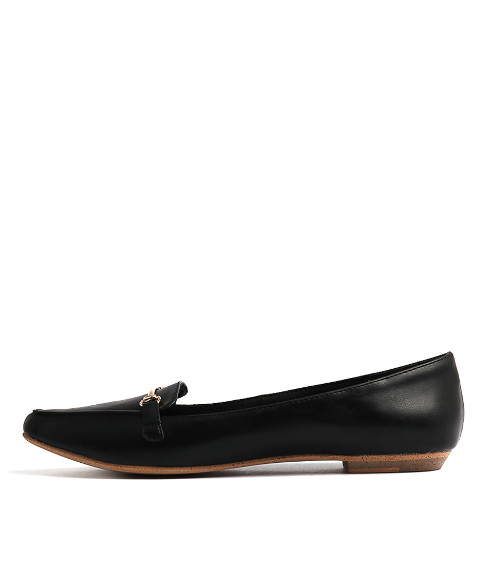 I Love Billy Branca Black Flat Shoes