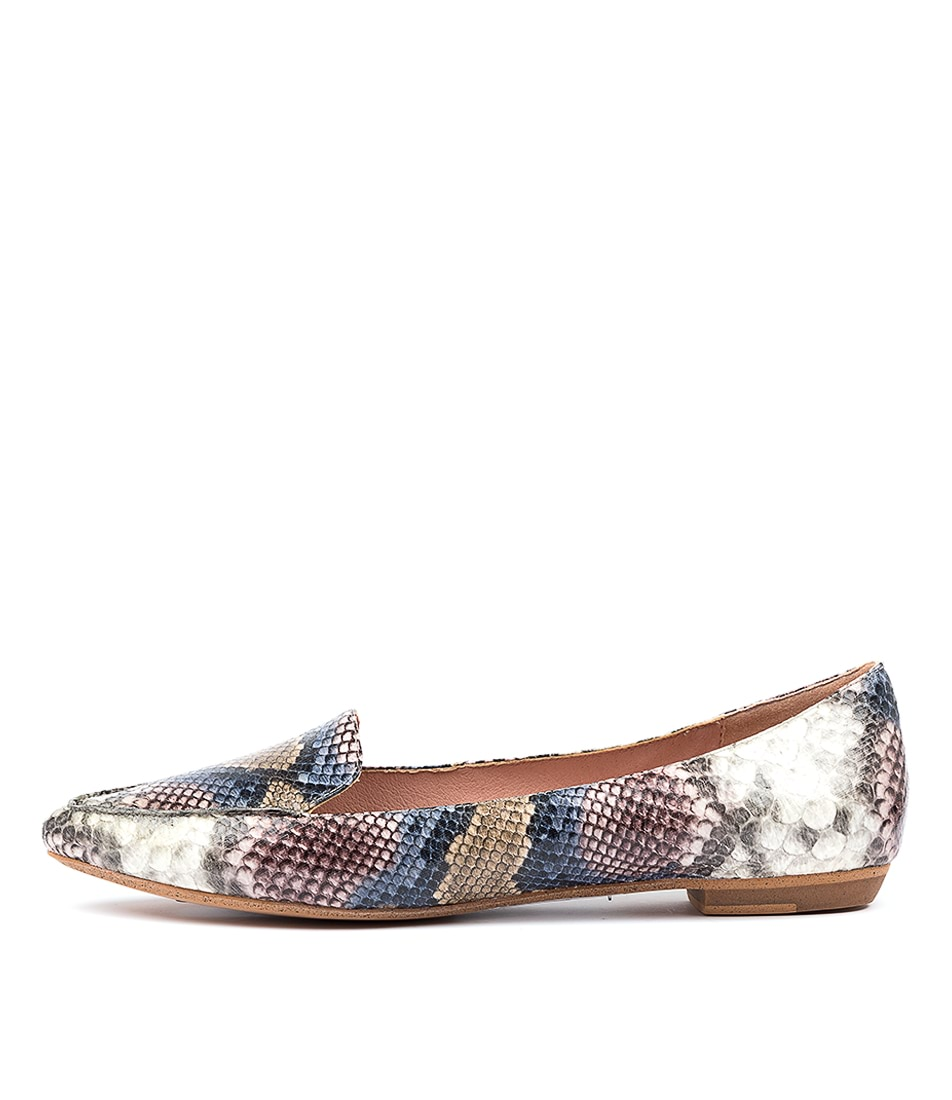 Buy I Love Billy Breane Pink Multi Python Flats online with free shipping