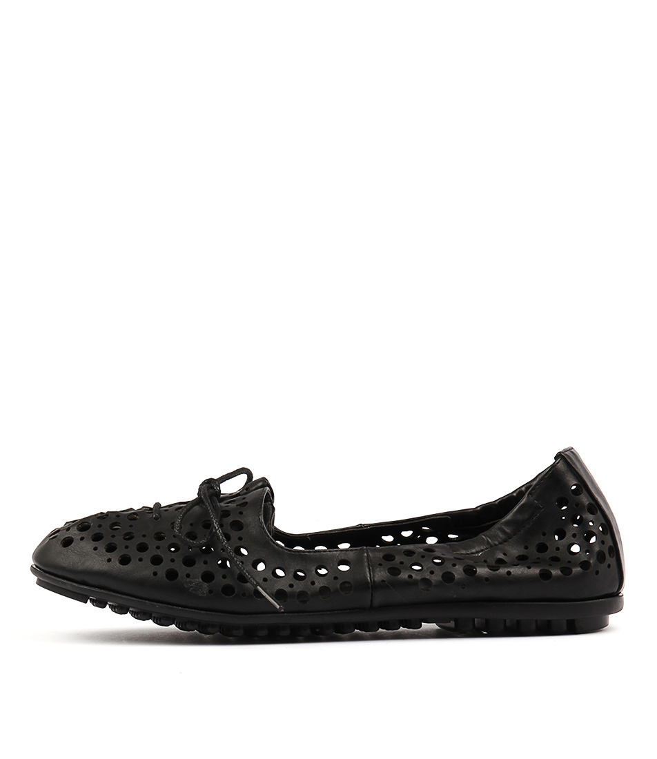 I Love Billy Buffi Black Flat Shoes