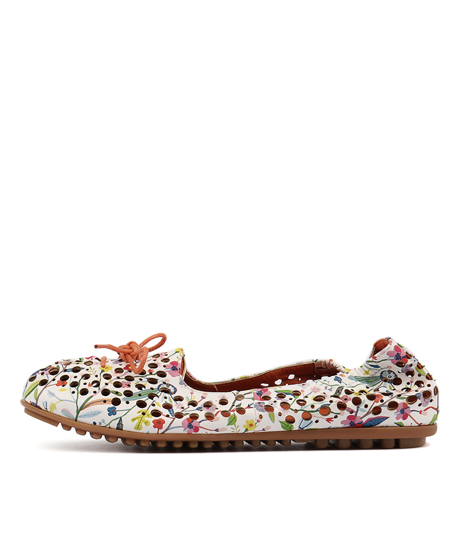 I Love Billy Buffi White Multi Flat Shoes