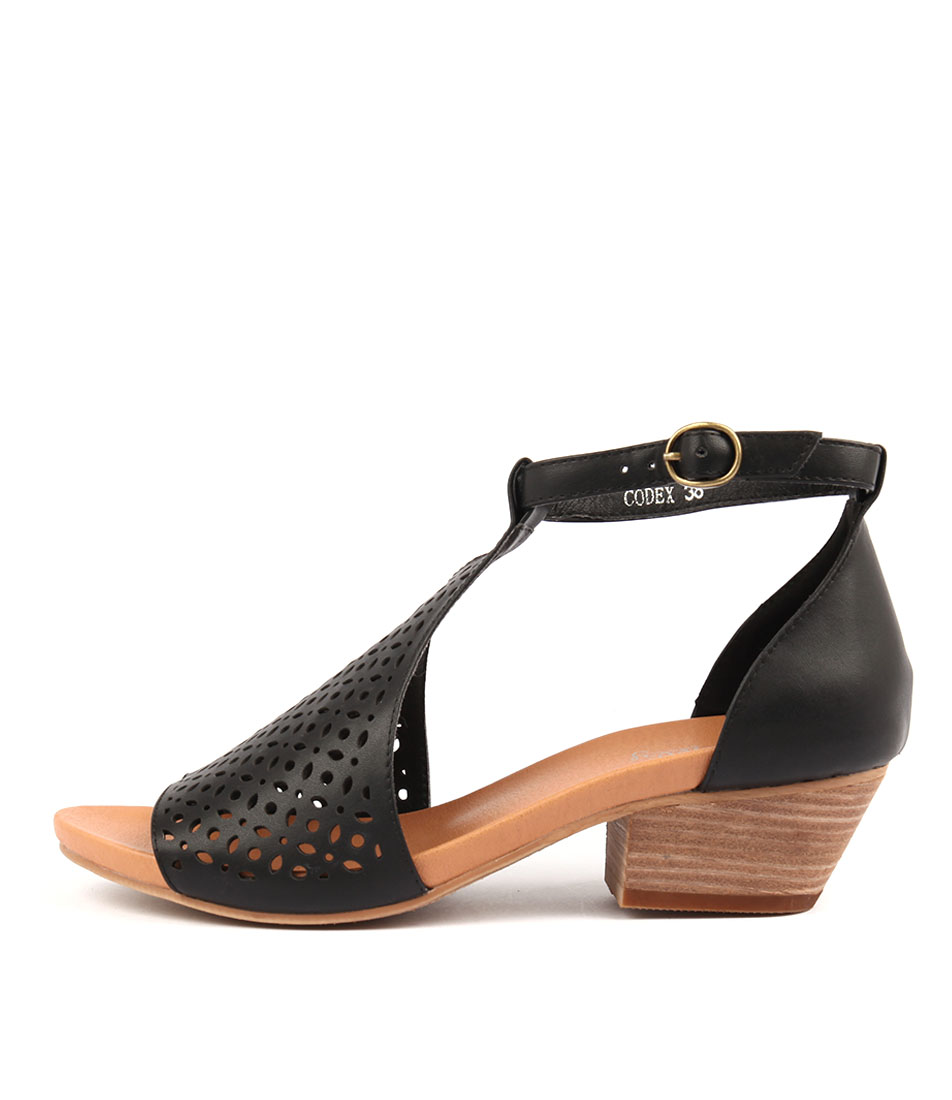 I Love Billy Codex Black Casual Heeled Sandals
