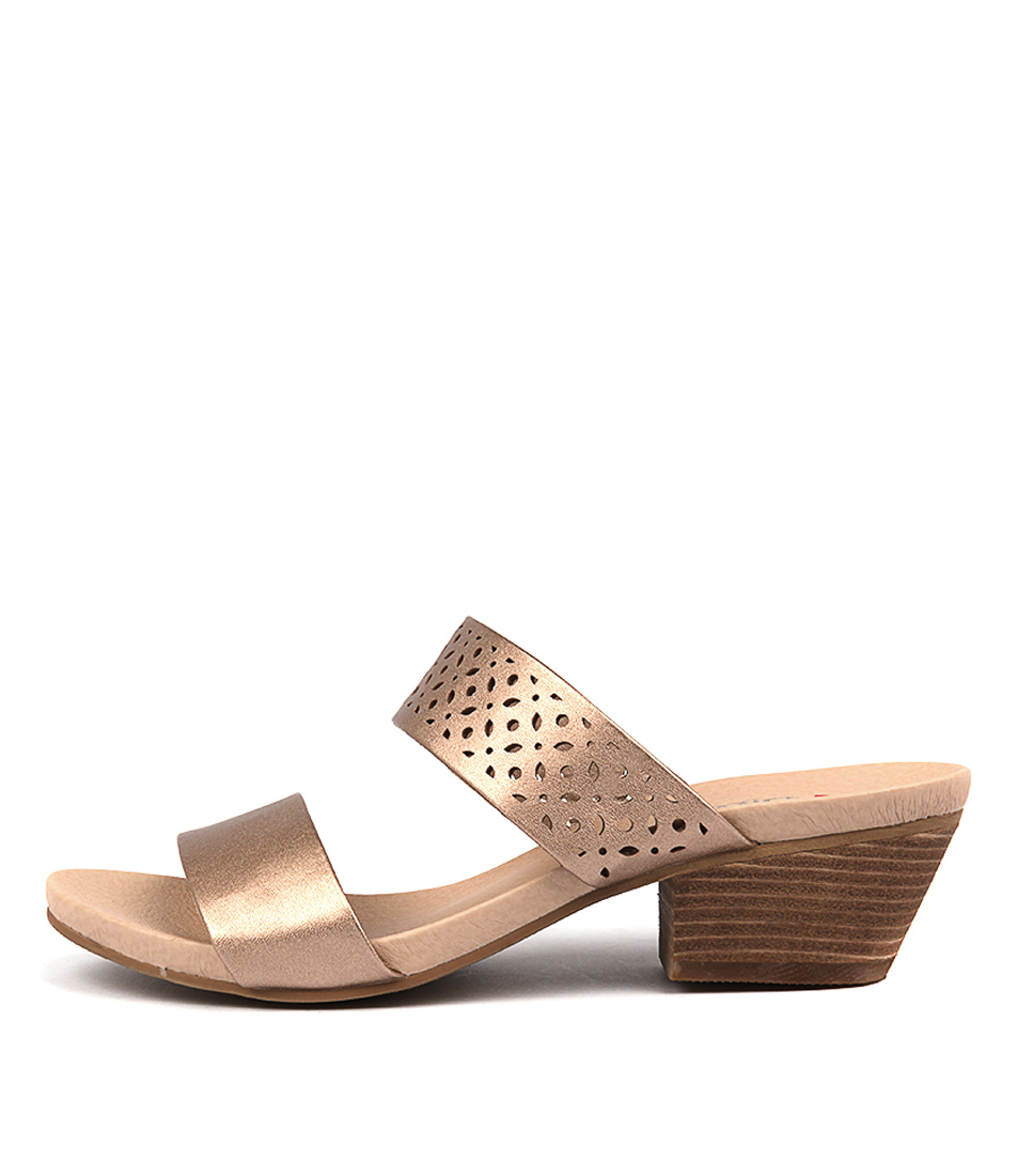 I Love Billy Coleen Matt Rose Gold Heeled Shoes