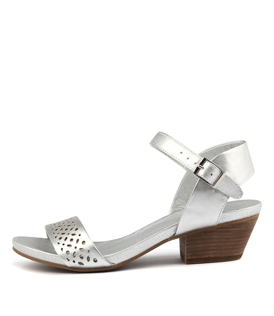 I Love Billy Cooper Matt Silver Mat Heeled Sandals