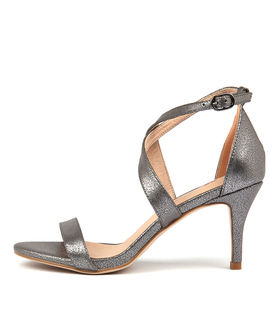 I Love Billy Cordelia Pewter Dress Heeled Sandals