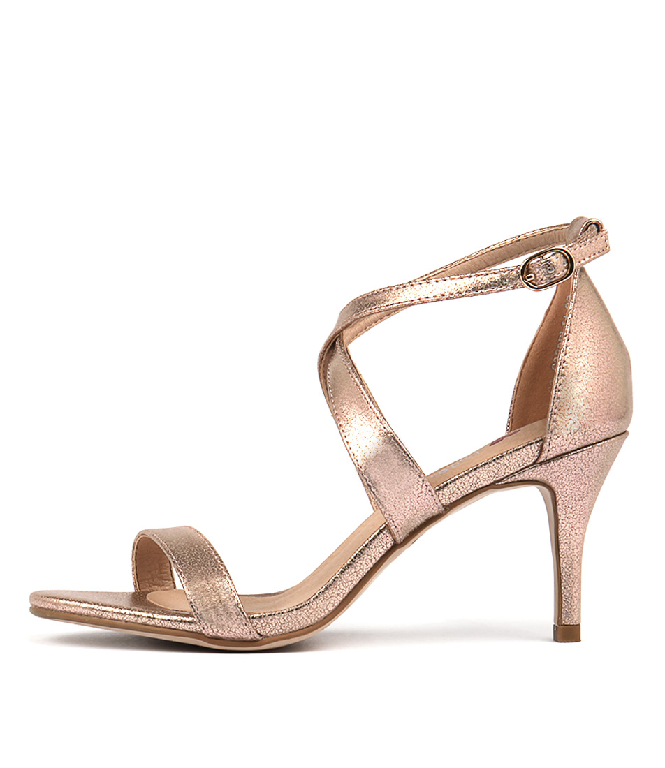 I Love Billy Cordelia Rose Gold Dress Heeled Sandals
