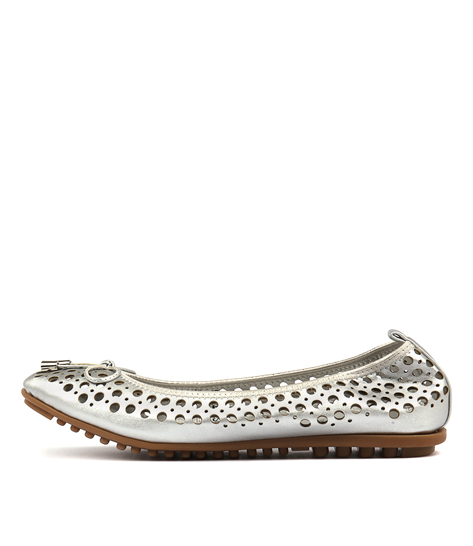 I Love Billy Cosette Silver Flat Shoes