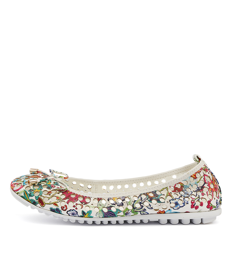 Buy I Love Billy Cosette White Botanical Flats online with free shipping