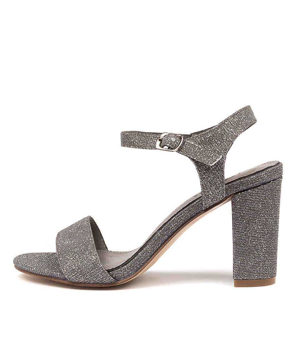 Buy I Love Billy Dixie Pewter Heeled Sandals online with free shipping