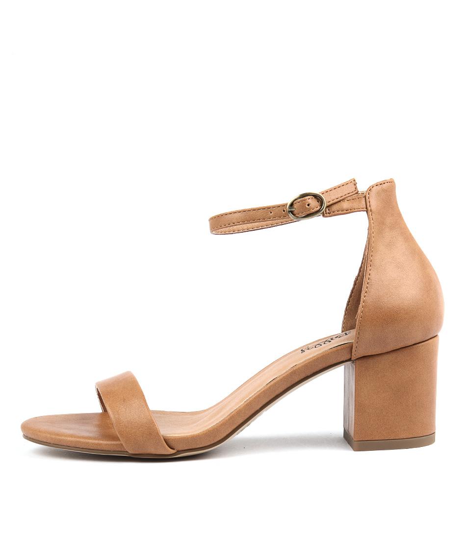 I Love Billy Frenti Tan Heeled Sandals