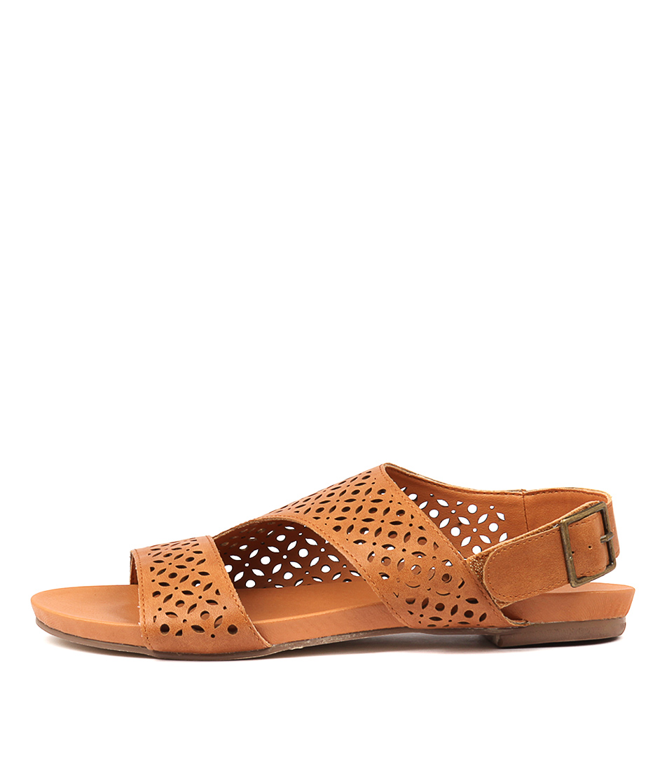 Buy I Love Billy Jankin Tan Tan Flat Sandals online with free shipping