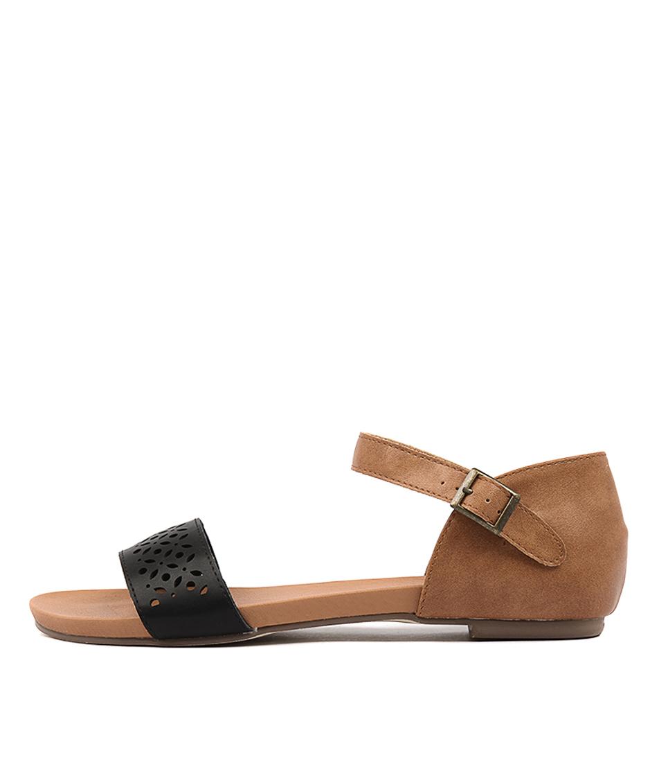 I Love Billy Judee Navy Tan Sandals