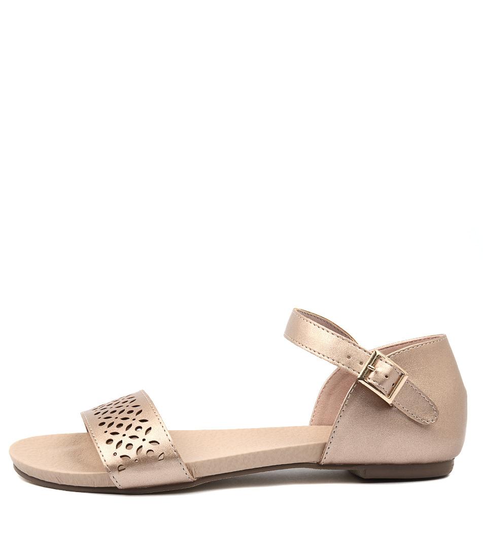 I Love Billy Judee Matt Rose Gold Flat Sandals