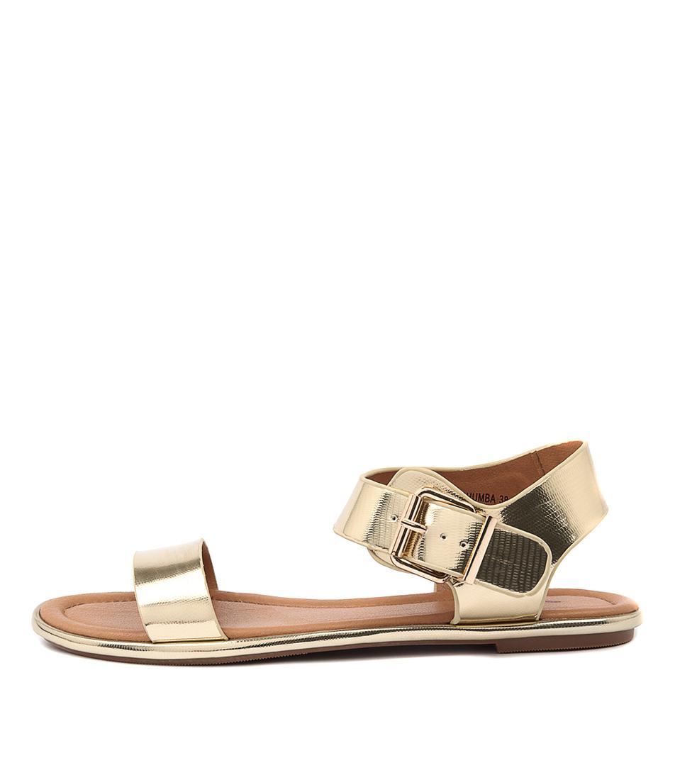 I Love Billy Larhumba Gold Casual Flat Sandals