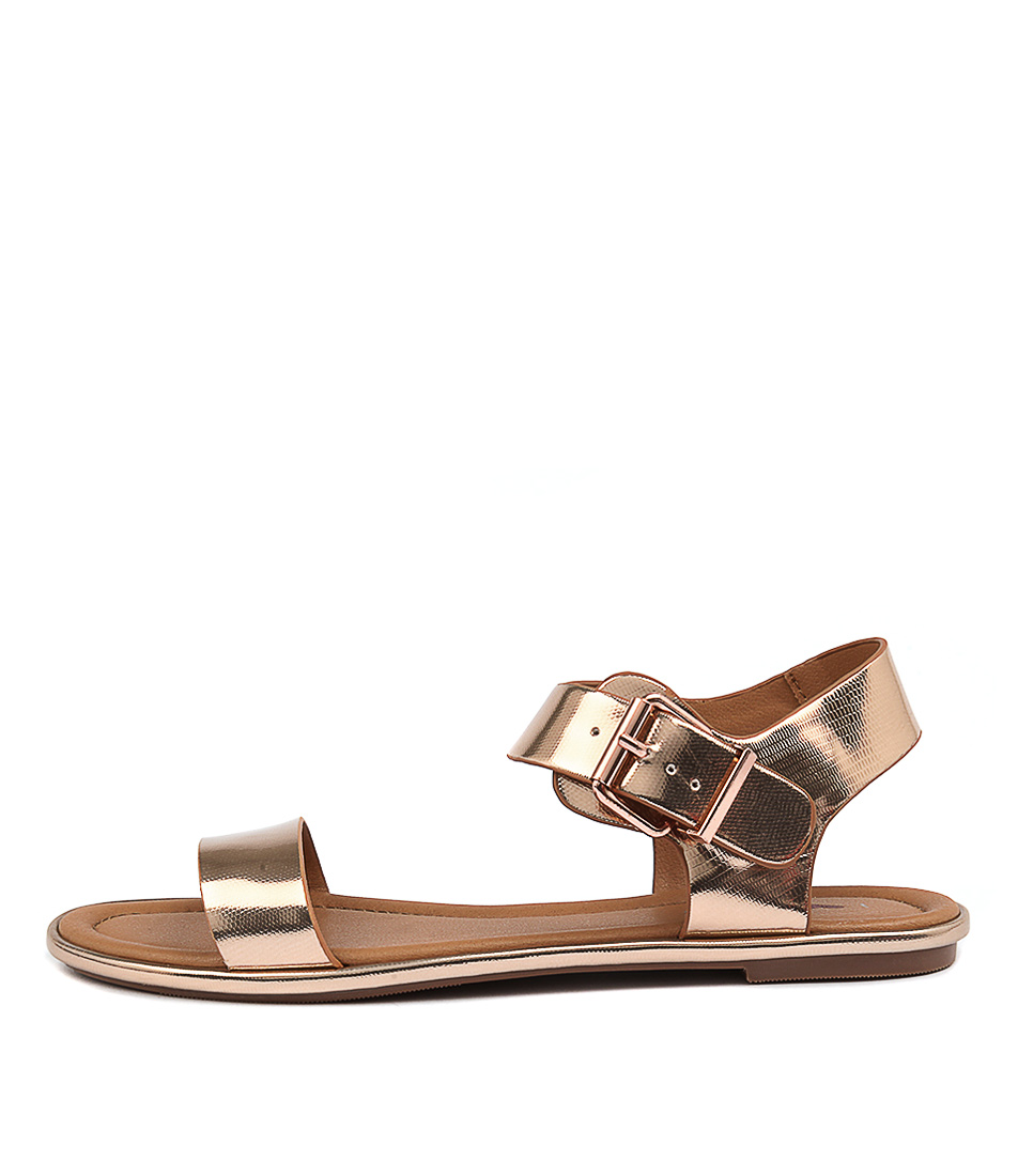 I Love Billy Larhumba Rose Gold Casual Flat Sandals