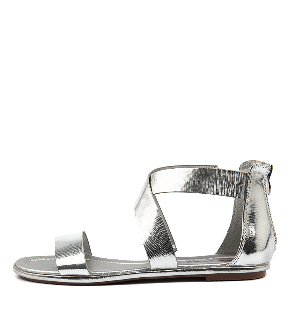 I Love Billy Lomana Silver Flat Sandals