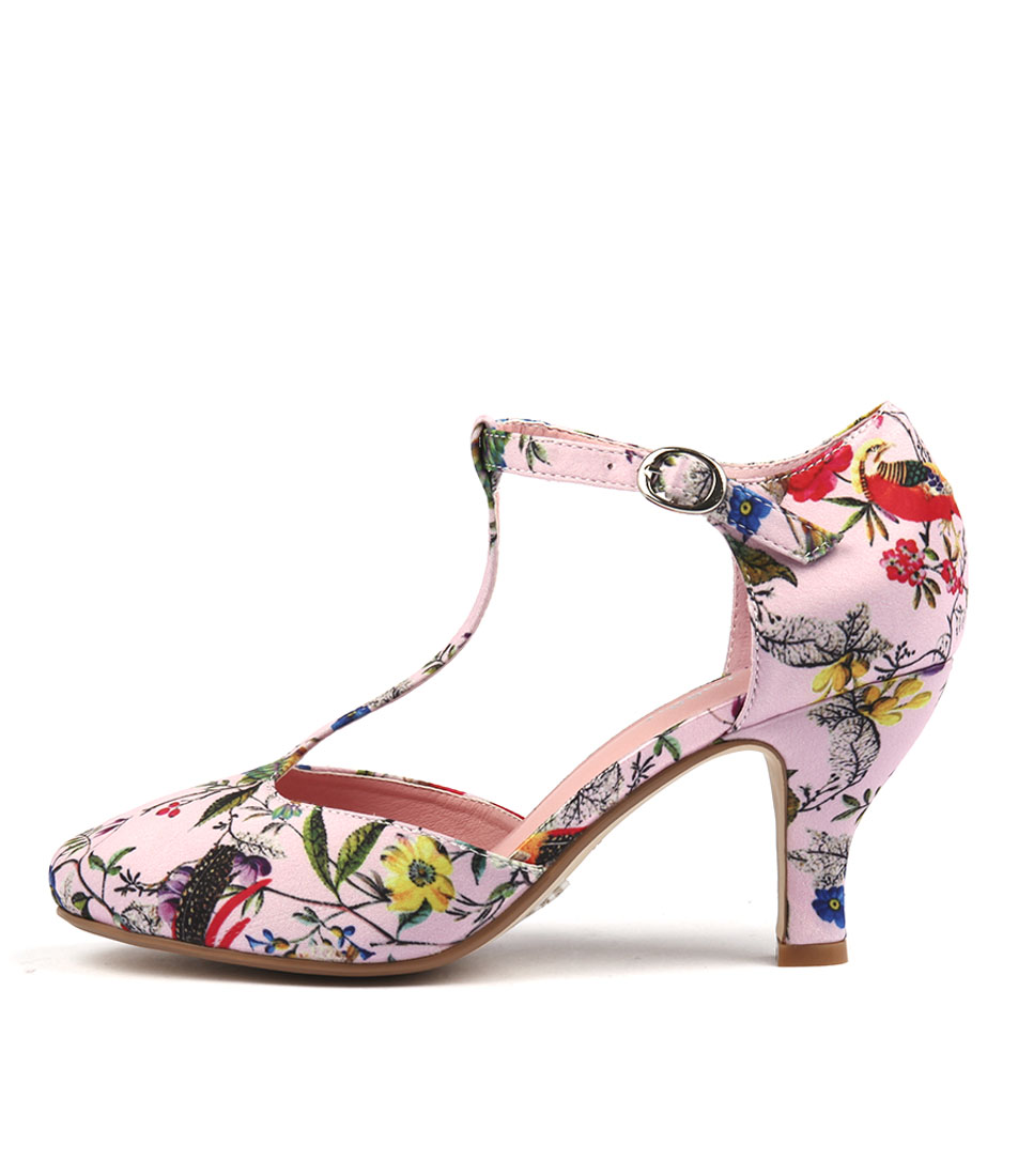 I Love Billy Michelle Pink Bird Heeled Shoes