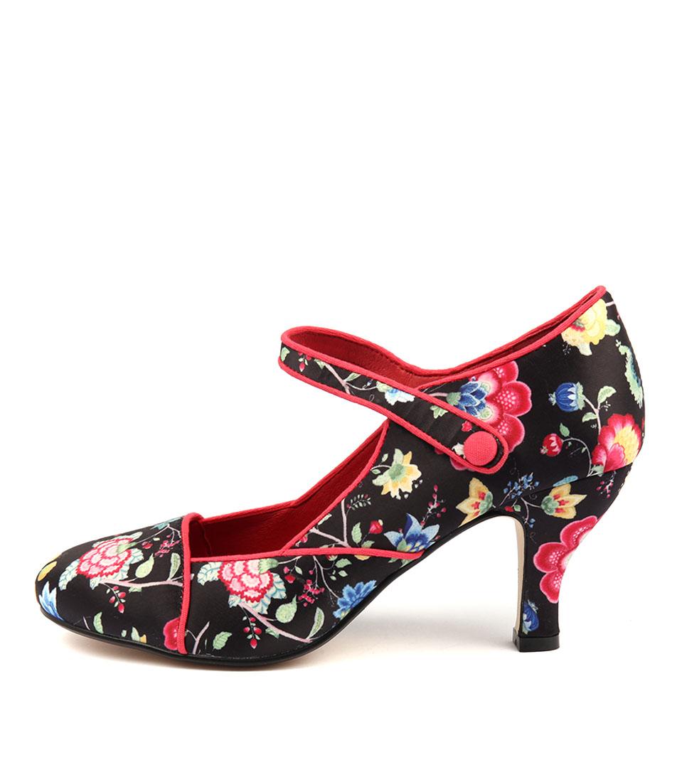 I Love Billy Minkie Black Print High Heels